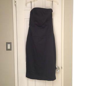 Amsale Black strapless dress